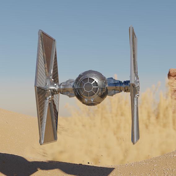 Tie Fighter - Dust Simulation