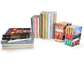 Travel Books 3D model