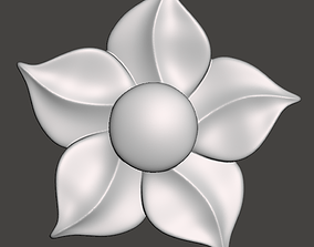 WoodCarving floral detail - 3d model for CNC - 1