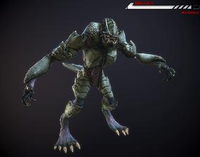 3D model Alien Beast Lowpoly rigged