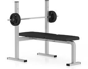 Flat Weight Bench 3D model