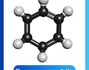 Benzene 3D Model C6H6