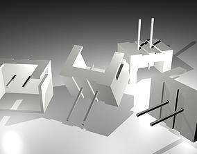 2-Pin Straight Pin Socket 3D model