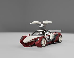 Lemsis v12 super sports racing car concept design 3D model