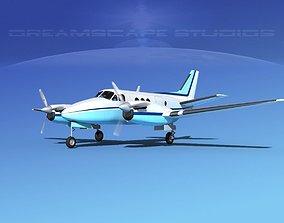 3D model Beechcraft King Air 100 V02