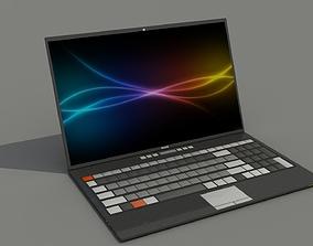 Custom Brand Laptop 3D asset