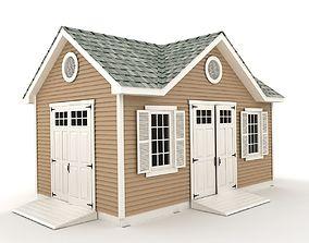 Garden shed 04 3D