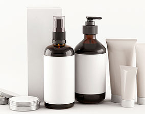 Cosmetic bottles 3D model
