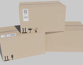 3D asset game-ready Cardboard Box