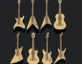Guitar pendants pack 3D print model