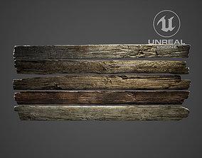 3D asset Fence Wood Planks