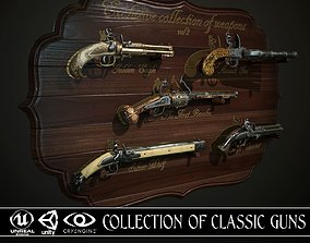 Collection of classic guns 2 3D asset