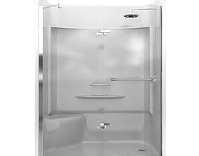 3D Maax Reveal 71 Pivot Shower Door cabin box