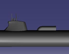 Suffren nuclear submarine 3D print model