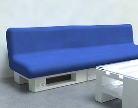 Sofa from EUR-pallets 3D