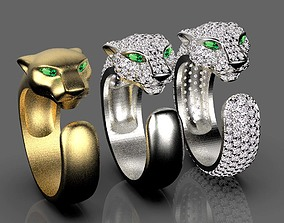 panther rings pendant 3D print model
