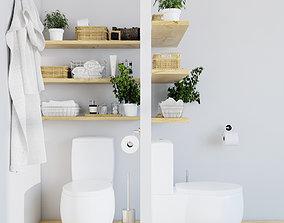 3D WC decoration