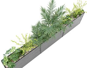 3D Long Planter Pot 3