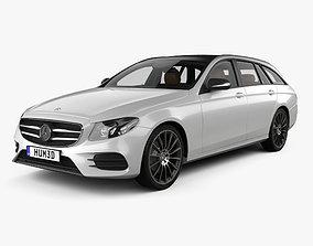 3D model Mercedes-Benz E-class AMG-Line estate with HQ 1