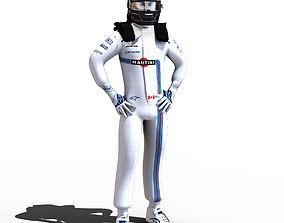 Lance Stroll 2018 3D model