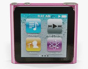 Apple iPod nano 6 Generation digital media player 3D asset