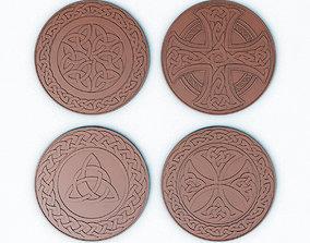 3D model Celtic Medals Fantasy Coins - Circle Patterns