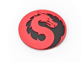 Cosplay 3D printable Mortal Kombat 2021 logo