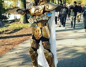 cosplay CUSTOM 3D PRINTED GOLD MITH CLOTH LEO