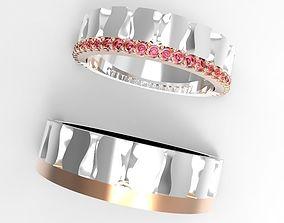 3D printable model Wavy Pattern engagement Ring