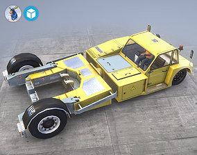 Towbarless Aircraft Tractors LTD TPX-200-S yellow 3D model