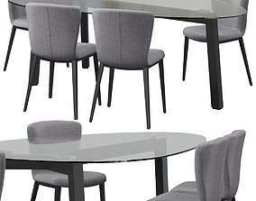 RIFLESSI GIO chair and Treble table 3D model
