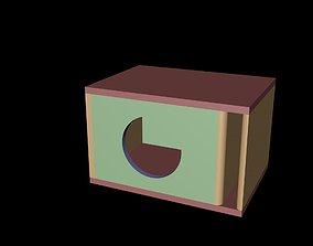 Acustic Box for Dayton Audio TCP115-4 3D model stereo