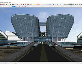 Sketchup Convention Center and International Exhibition 3D