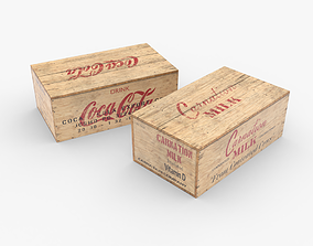 3D asset US Rations Wooden Boxes WWII