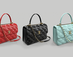 Chanel Small Flap Bag With Top Handle 3 colors leather 3D