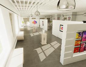 3D asset Modern Gallery