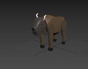 the wild west bison 3D model