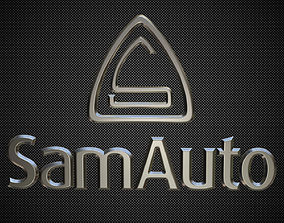 3D model sam auto logo