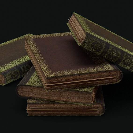 Some smooth, textured books