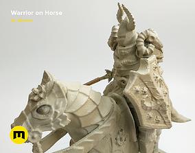 Warrior on horse - kit for 3D printing