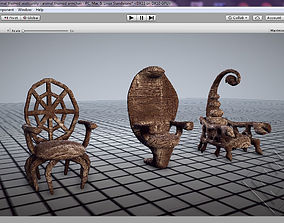 3D asset Animal Themed Armchairs
