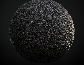 3D asset Scanned Seamless Dark Gravel PBR Texture