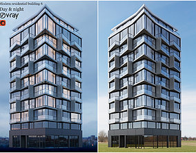 Modern residential building 6 3D