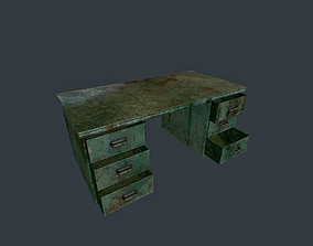 Old Office Table pbr 3D model