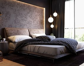 Elegance Bedroom 3D Model Vray Settings and PSD