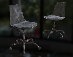 3D asset Old office chair