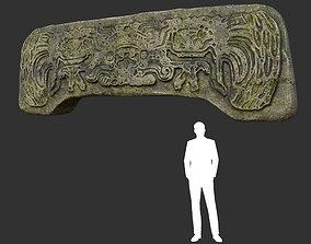 Low poly Mayan Inca Ruin Temple Modular 04-5k 3D asset