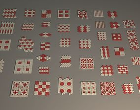 44 Stree-Wall Tiles 3D asset
