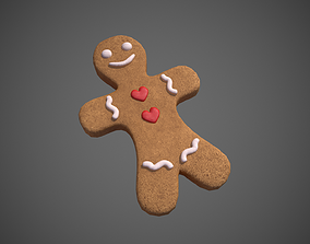 Gingerbread Cookie Man 3D asset