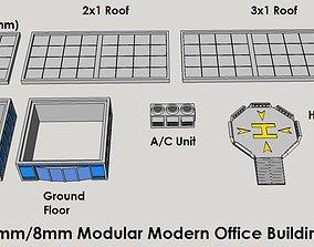 3D printable model 6mm or 8mm Modular Modern Office